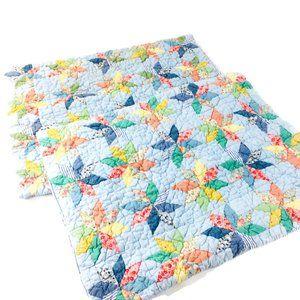L.L. Bean Quilted Pinwheel Standard Pillow Shams